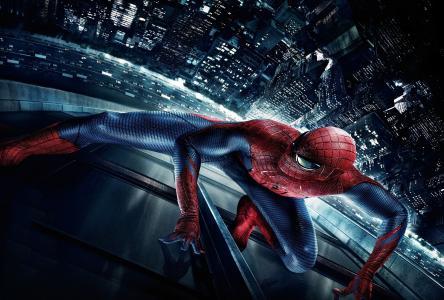 新的蜘蛛侠,惊人的蜘蛛侠,城市,夜晚,蜘蛛,纽约