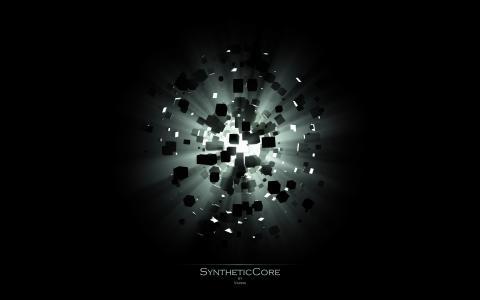 爆炸,光,立方体,Syntheticcore