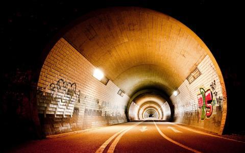 隧道,地铁,地铁,地铁
