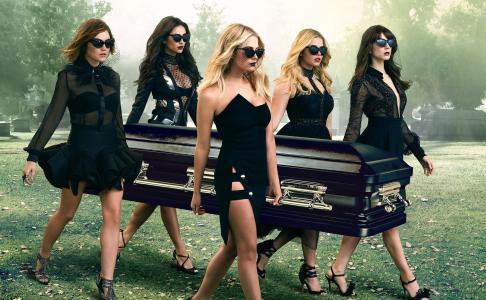 女孩,墓地,棺材