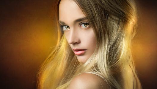 女孩,肖像,摄影师,Joachim Bergauer,金发碧眼,看看