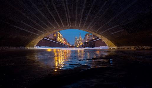 滴血的救世主,喀山大桥,由叶夫根尼Yakushev