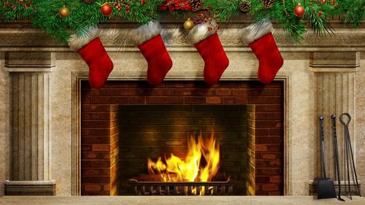 多彩,美女,圣诞节,美丽,酷,圣诞球,颜色,圣诞袜,火