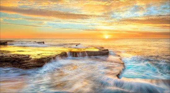 澳大利亚,海边,大海,Maroubra,新南威尔士,大自然