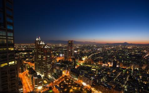 大都会,摩天大楼,建筑物,日本,首都东京