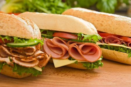 火腿,快餐,三明治,火腿,三明治,快餐,包子
