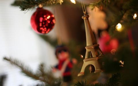 新的一年,毛皮树,玩具