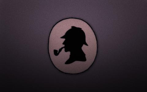 福尔摩斯,管,福尔摩斯,圈,头,帽