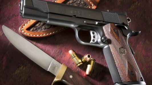 手枪,刀,墨盒