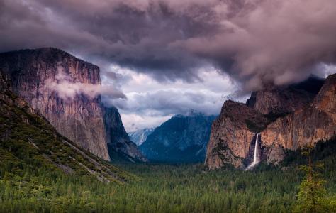 公园,美国,山,景观,优胜美地,岩石,塞拉利昂,内华达州,性质
