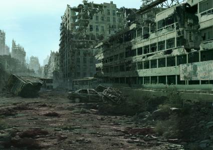 废墟,废墟,城市,Postapokalipsis