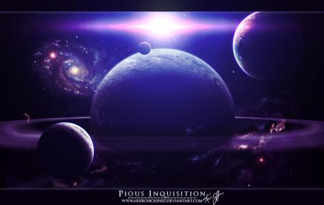 银河,星球,爆炸,空间