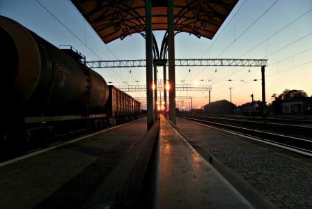 站,站,piron,平台,火车,货车