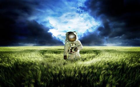 宇航员,领域,在另一个星球上