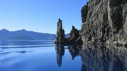 岩石,悬崖,玻璃水