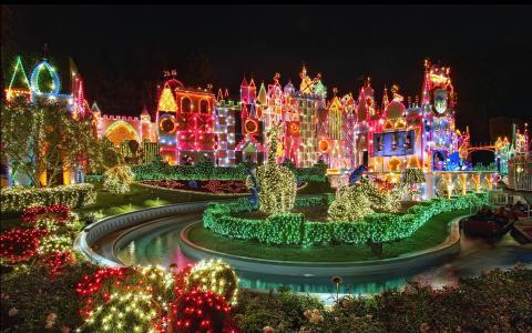 迪士尼乐园,天空,乐趣,圣诞节,明亮,假期,美丽