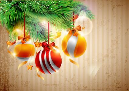 圣诞树,球,圣诞装饰品