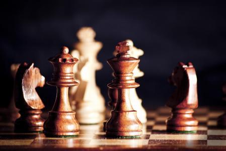 象棋,游戏,人物,树,董事会