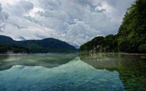 湖,自然,树,湖,河,河,风景,水
