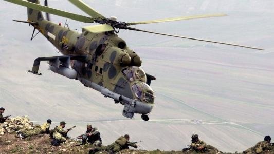 直升机,苏联,作战,米-24