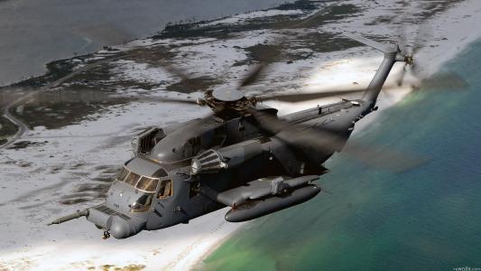 军队,Mh-53j铺平道路,直升机,飞行