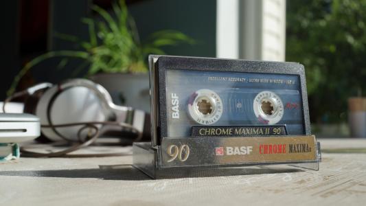 盒式磁带,耳机,播放器,90 e