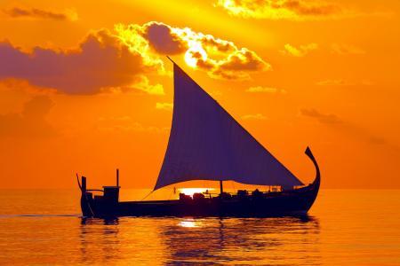 帆,海,天空