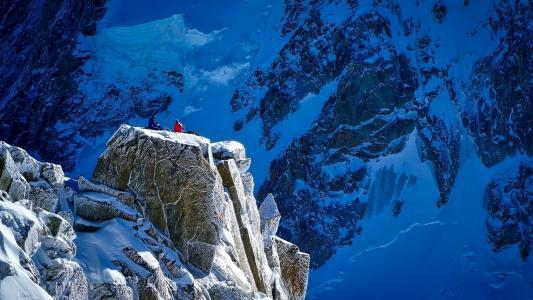 山,雪,岩石,高原,人民,大卫马克