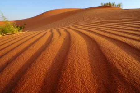 沙,自然,沙漠,天空