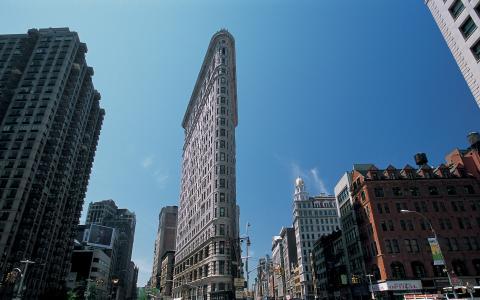 纽约,美国,美国,摩天大楼,纽约,熨斗,建设,纽约