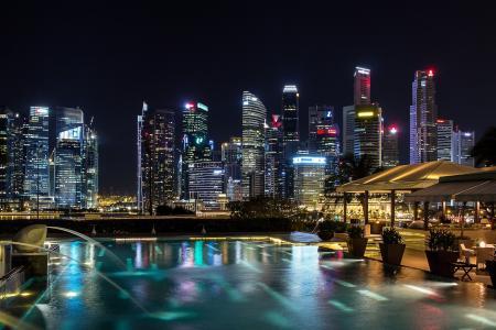 狮城新加坡的夜晚