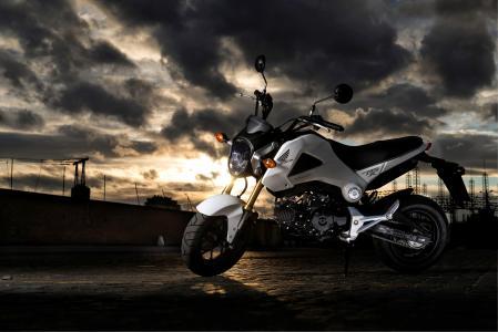 本田,MSX125,侧身,摩托车