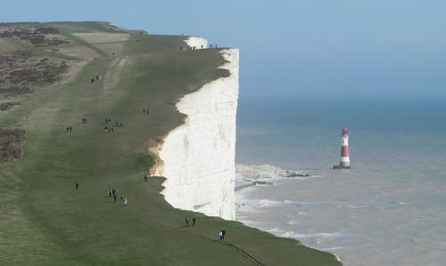 英格兰,海,岩石,多佛,悬崖,景观,灯塔