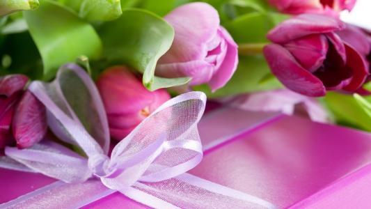 丁香,粉红色,鲜花,花卉,郁金香,紫色