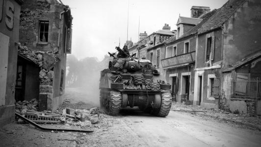 坦克,黑色和白色,房屋,chb,破坏