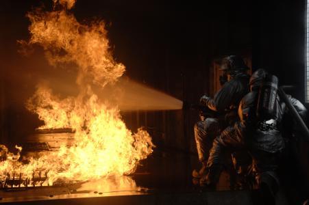 男人,工作,火,火,战斗,极端,主题
