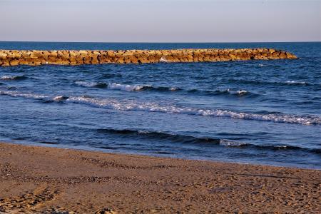 波浪,岸,海,普里亚