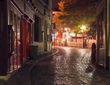法国,巴黎,街,灯,灯,美女