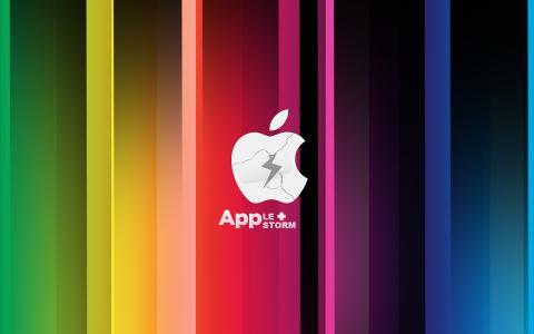 苹果,苹果,风暴