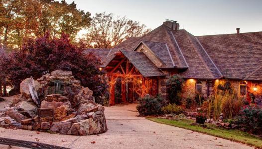 房子,美国,阿肯色州,秋天