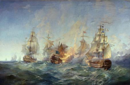 Blinkov,1790年8月28日至29日Tendra岛附近的战斗,绘画