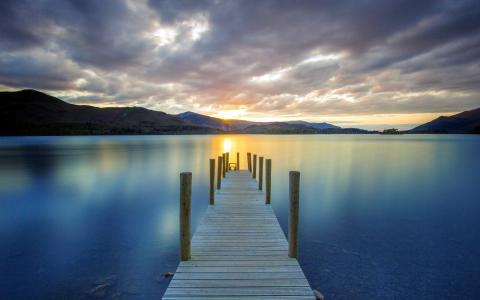 景观,桥,湖