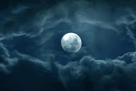 美丽的圆月风景