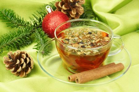 球,杯,冷杉,圣诞节,新的一年,锥体,茶,科,肉桂