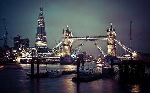 英国,泰晤士河,伦敦,伦敦塔桥,英国