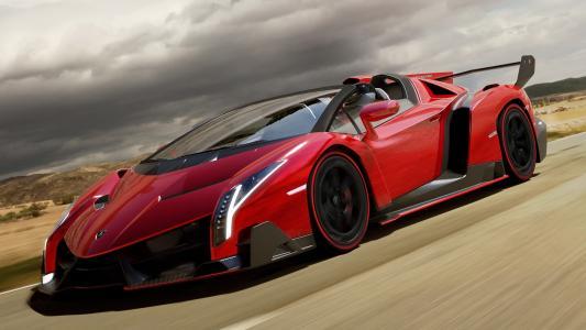 超级跑车,速度,兰博基尼,红色,路线