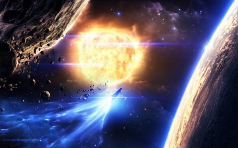 小行星,空间,星星,艺术,行星,空间,艺术