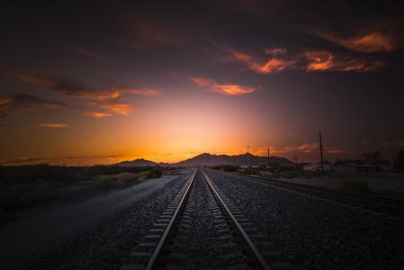 铁路,公路,山,美丽