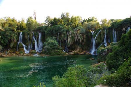 波斯尼亚和黑塞哥维那,瀑布,克拉维斯,灌木,性质,人民