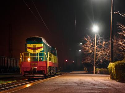 铁路,内燃机车,车站,ChME3